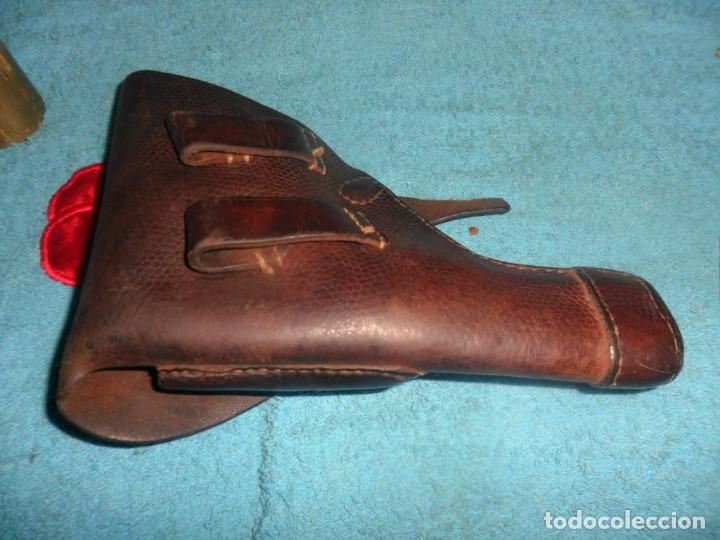 Militaria: funda pistola de cuero - Foto 4 - 207614721
