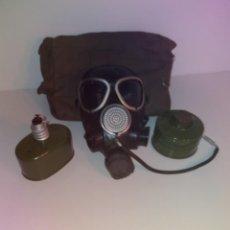 Militaria: FANTASTICA Y ALUCINANTE ANTIGUA MASCARA DE GAS VINTAGE CARETA ANTIGAS AÑOS 70'S SIN USO. Lote 208414676