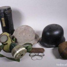 Militaria: MAGNIFICA Y ANTIGUA COLECCION MILITAR ALEMANIA CASCOS MASCARA ANTIGAS GAFAS CAMTIMPLORA 530,00 €. Lote 215683285