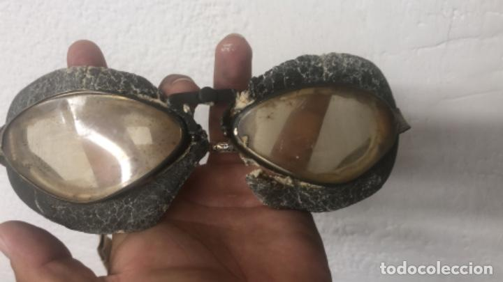 Militaria: Gafas de piloto aleman - Foto 2 - 217962916