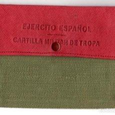 Militaria: CARTERA EJERCITO ESPAÑOL. CARTILLA MILITAR DE TROPA. AÑOS 50-60. Lote 219172058