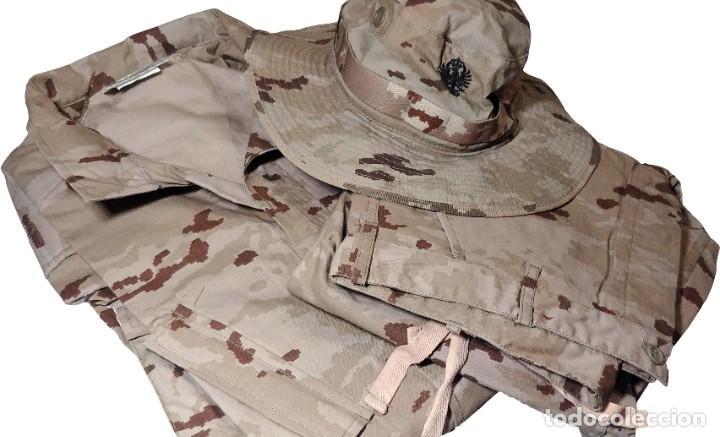 Militaria: UNIFORME COMPLETO DE CAMPAÑA COMÚN ÁRIDO : PANTALÓN, CHAQUETA Y GORRO. TALLA 3L. NUEVO. - Foto 2 - 221514687