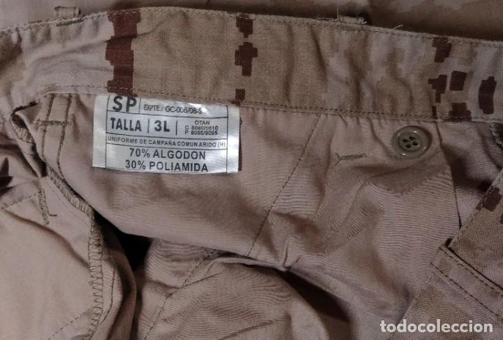Militaria: UNIFORME COMPLETO DE CAMPAÑA COMÚN ÁRIDO : PANTALÓN, CHAQUETA Y GORRO. TALLA 3L. NUEVO. - Foto 5 - 221514687