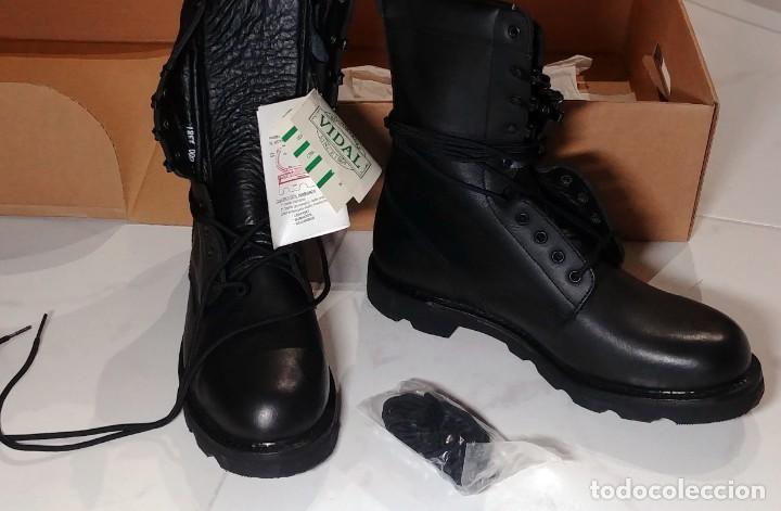 Militaria: BOTAS NEGRAS DE CUERO VIDAL DEL EJERCITO DE TIERRA. TALLA 45. NUEVAS. - Foto 2 - 221516385