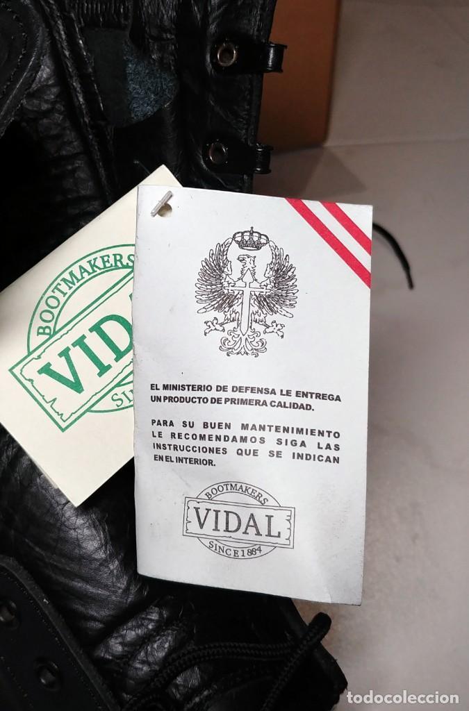 Militaria: BOTAS NEGRAS DE CUERO VIDAL DEL EJERCITO DE TIERRA. TALLA 45. NUEVAS. - Foto 14 - 221516385
