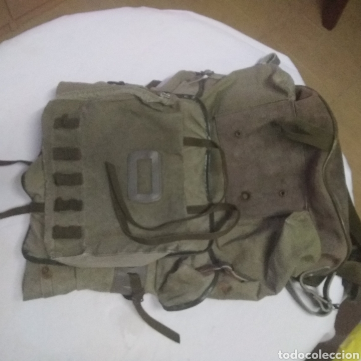 Militaria: MOCHILA MILITAR DE GRAN CAPACIDAD -MARCA ALTUS POSETS- MUY ANTIGUA (MADE IN SPAIN). - Foto 2 - 222693140