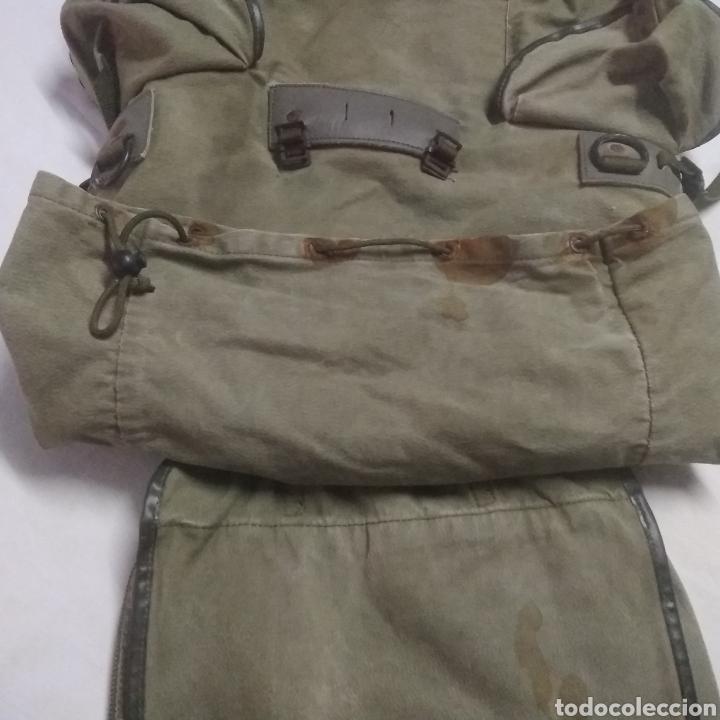 Militaria: MOCHILA MILITAR DE GRAN CAPACIDAD -MARCA ALTUS POSETS- MUY ANTIGUA (MADE IN SPAIN). - Foto 8 - 222693140