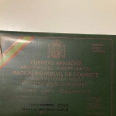 Militaria: FUERZAS ARMADAS - RACIÓN DE COMBATE A2 CADUCADA. Lote 224134503