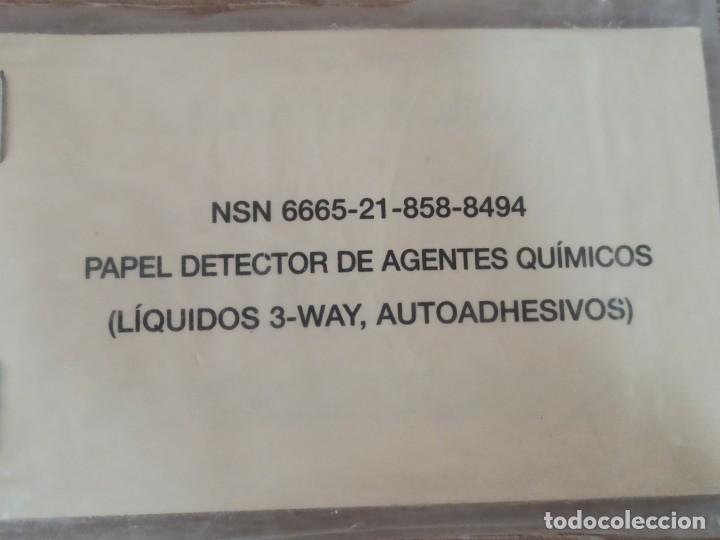 PAPEL DETECTOR DE AGENTES QUÍMICOS AUTOADHESIVOS NBQ PRECINTADO (Militar - Equipamiento de Campaña)