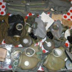 Militaria: GRAN LOTE MASCARAS ANTIGAS AÑOS 80-90. Lote 228814550