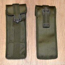 Militaria: X2 PORTA CARGADORES DOBLES SUBFUSIL VERDE OLIVA EJÉRCITO ESPAÑOL MILITAR COLECCIONISMO AIRSOFT. Lote 229126640