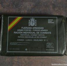 Militaria: RACIÓN INDIVIDUAL DE COMBATE EJÉRCITO ESPAÑOL FUERZAS ARMADAS COMIDA B 5 2008. Lote 235710925