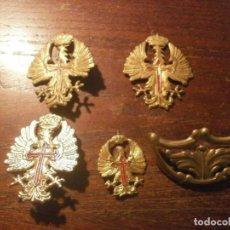 Militaria: LOTE MILITAR INSIGNIA EJERCITO ESPAÑOL 2 5 CM. 1 3,5 CM. 1 PIN ROSCA - 1 HOMBRERA 5,5 X3 CM. LOTE. Lote 238841975
