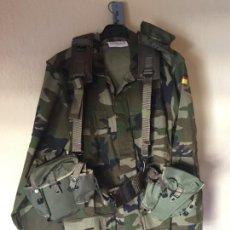 Militaria: CORREAJE TIPO ALICE INFANTERIA DE MARINA, MODELO 86, FUSA CETME C, TALLA M. Lote 244559765