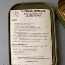 Militaria: RACIÓN INDIVIDUAL DE EMERGENCIA- FUERZAS ARMADAS - ESPAÑA. Lote 244830765