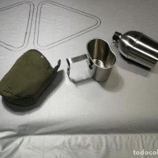Militaria: EXTRAORDINARIA CANTIMPLIORA DE CAMPAÑA, DE ACERO INOXIDABLE, NUNCA LLEGO A USARSE. Lote 248110350