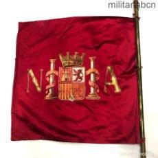 Militaria: BANDERÍN DE AUTOMÓVIL DEL PRESIDENTE DE LA REPÚBLICA ESPAÑOLA ALCALÁ NICETO ZAMORA. TELA PINTADA.. Lote 45959910