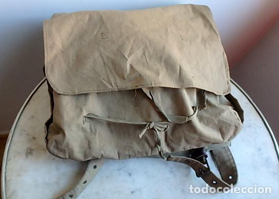 Militaria: (XJ-210406)Mochila, bolsa de costado y útiles de cocina y aseo de soldado Campañas de África. - Foto 6 - 255950200