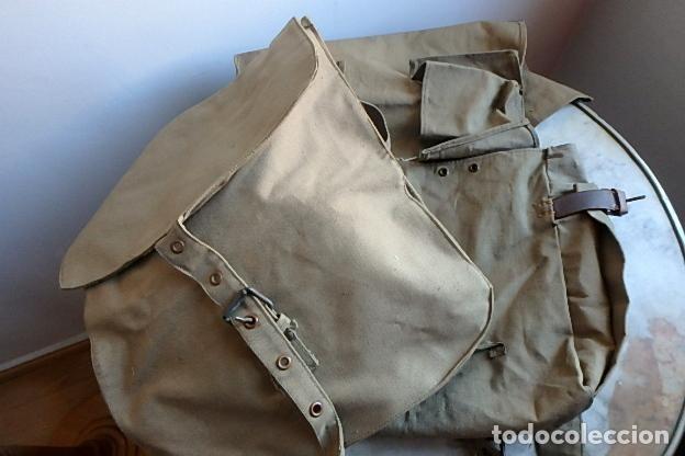 Militaria: (XJ-210406)Mochila, bolsa de costado y útiles de cocina y aseo de soldado Campañas de África. - Foto 8 - 255950200