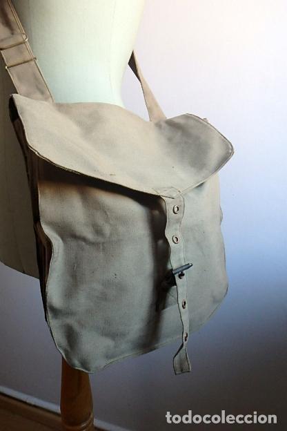 Militaria: (XJ-210406)Mochila, bolsa de costado y útiles de cocina y aseo de soldado Campañas de África. - Foto 11 - 255950200