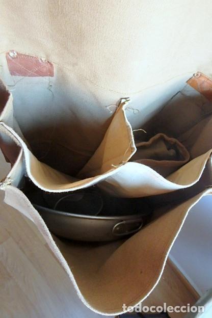 Militaria: (XJ-210406)Mochila, bolsa de costado y útiles de cocina y aseo de soldado Campañas de África. - Foto 14 - 255950200