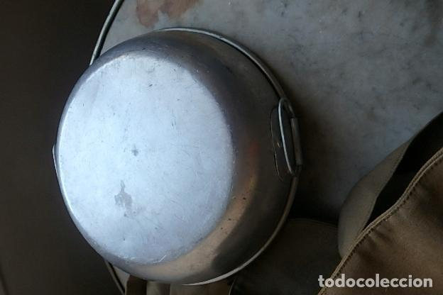 Militaria: (XJ-210406)Mochila, bolsa de costado y útiles de cocina y aseo de soldado Campañas de África. - Foto 17 - 255950200