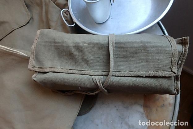 Militaria: (XJ-210406)Mochila, bolsa de costado y útiles de cocina y aseo de soldado Campañas de África. - Foto 18 - 255950200