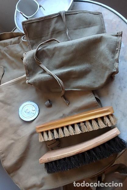 Militaria: (XJ-210406)Mochila, bolsa de costado y útiles de cocina y aseo de soldado Campañas de África. - Foto 20 - 255950200