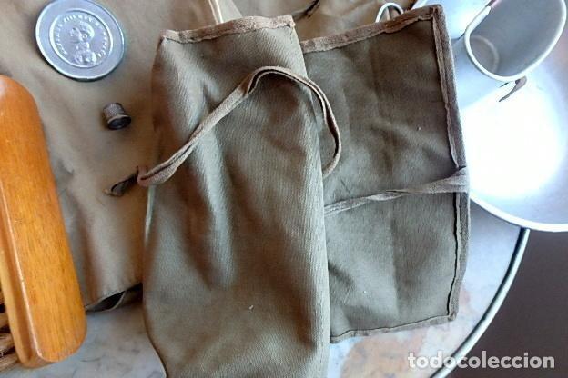 Militaria: (XJ-210406)Mochila, bolsa de costado y útiles de cocina y aseo de soldado Campañas de África. - Foto 22 - 255950200