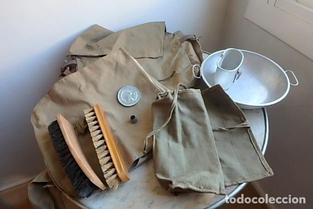 Militaria: (XJ-210406)Mochila, bolsa de costado y útiles de cocina y aseo de soldado Campañas de África. - Foto 31 - 255950200