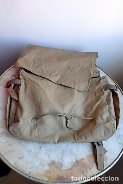 Militaria: (XJ-210406)Mochila, bolsa de costado y útiles de cocina y aseo de soldado Campañas de África. - Foto 37 - 255950200