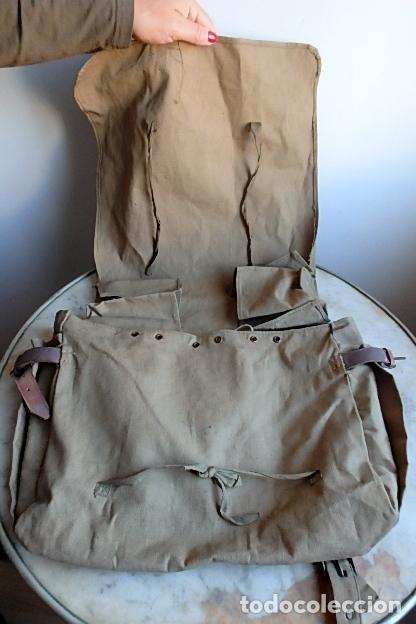 Militaria: (XJ-210406)Mochila, bolsa de costado y útiles de cocina y aseo de soldado Campañas de África. - Foto 39 - 255950200