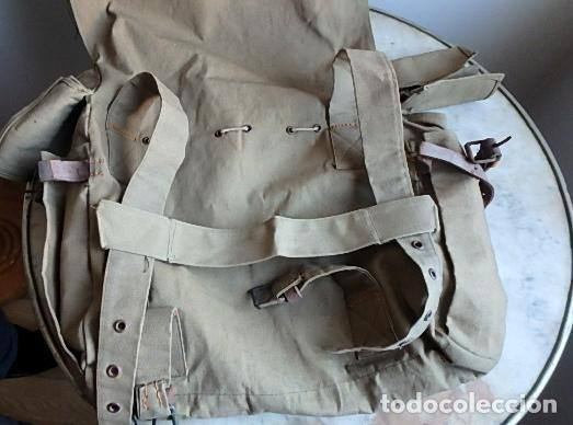 Militaria: (XJ-210406)Mochila, bolsa de costado y útiles de cocina y aseo de soldado Campañas de África. - Foto 43 - 255950200
