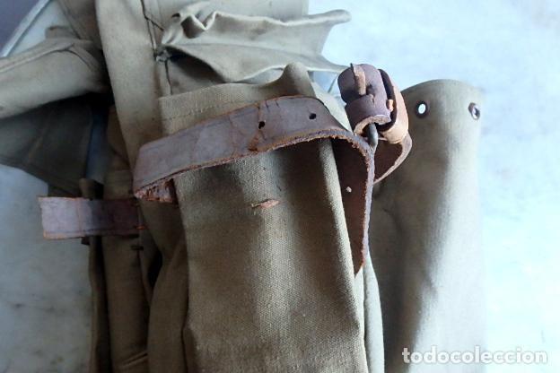 Militaria: (XJ-210406)Mochila, bolsa de costado y útiles de cocina y aseo de soldado Campañas de África. - Foto 45 - 255950200