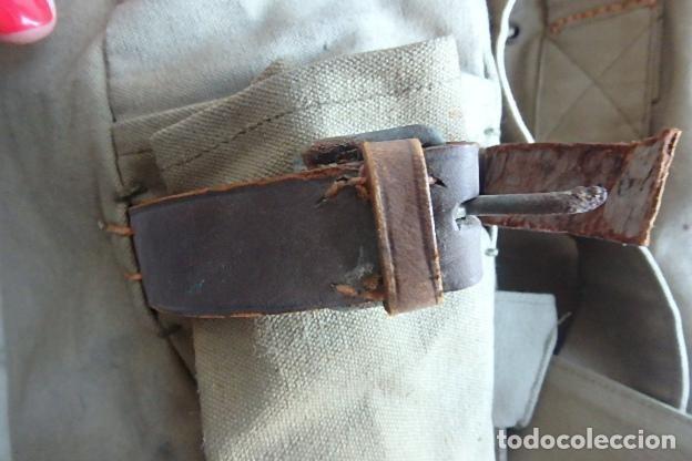 Militaria: (XJ-210406)Mochila, bolsa de costado y útiles de cocina y aseo de soldado Campañas de África. - Foto 46 - 255950200