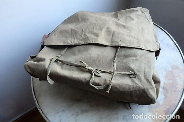 Militaria: (XJ-210406)Mochila, bolsa de costado y útiles de cocina y aseo de soldado Campañas de África. - Foto 49 - 255950200