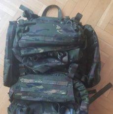 Militaria: MOCHILA PIXELADO BOSCOSO DE COMBATE DEL EZAPAC (ESCUADRÓN DE ZAPADORES PARACAIDISTAS-EA).VER FOTOS. Lote 265691714