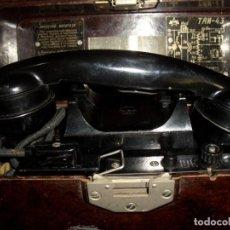 Militaria: TELÉFONO MILITAR DE CAMPAÑA SOVIÉTICO RUSO TAI M 43. Lote 266273233