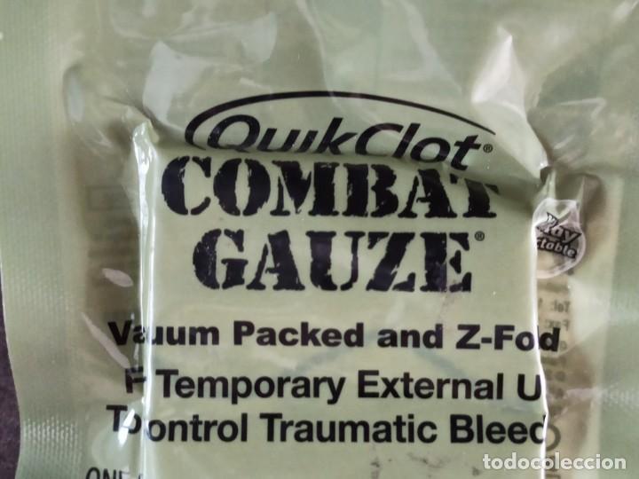 Militaria: QUIKCLOT COMBAT GAUZE GASA HERMOSTATICA EJERCITO AMERICANO USA - Foto 3 - 268745654