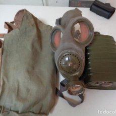 Militaria: MASCARA DE GAS ITALIANA GUERRA CIVIL A BIDONES. Lote 268975629