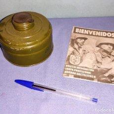 Militaria: ANTIGUO FILTRO DE MASCARA ANTIGAS MILITAR BOLETIN INFORMATIVO TROPA PROFESIONAL BRIGADA CASTILLEJOS. Lote 269269713