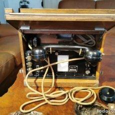 Militaria: TELÉFONO ANTIGUO DE CAMPAÑA MILITAR. AUTOPHON AG MODELO 1947 SUIZO. Lote 272752783