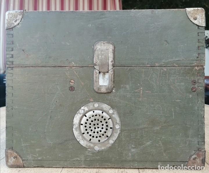 Militaria: Caja vacía telefono militar - Foto 2 - 277284213