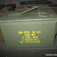 Militaria: CAJA METALICA DE MUNICIÓN 15,5X30X18CM.. Lote 277745913