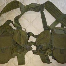 Militaria: GRAN PORTAEQUIPOS DE COMBATE. PECO MARCA BLACKHAWK. 10 CARTUCHERAS. 2KG. Lote 278362788