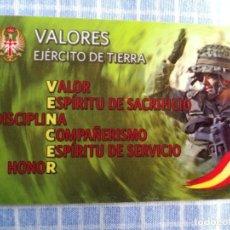 Militaria: TARJETA VALORES DEL EJÉRCITO DE TIERRA. Lote 279526293