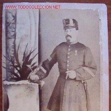 Militaria: FOTO DE UN MILITAR CON BAYONETA DE FUSIL REMINGTON, 11 X 17 CMS.. Lote 11648518