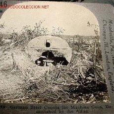 Militaria: FOTOGRAFIA ESTEREOSCOPICA DE UNA CUPULA DE ACERO ALEMANA PARA AMETRALLADORA DEMOLIDA POR LOS ALIADO. Lote 554087