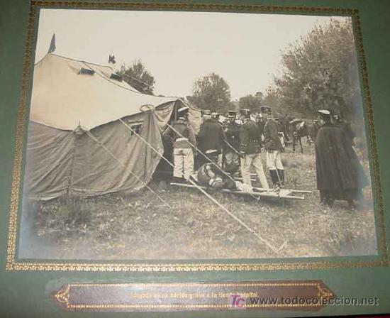Militaria: ANTIGUO ALBUM FOTOGRAFICO DE 1910 - BRIGADA DE TROPA DE SANIDAD MILITAR ESPAÑOLA - FOTOGRAFIAS DE SU - Foto 3 - 26305665