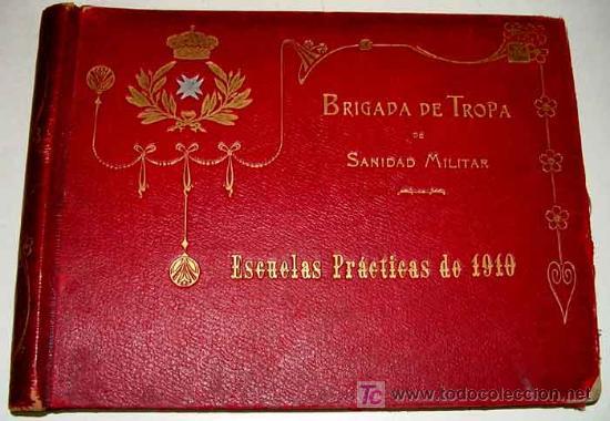 Militaria: ANTIGUO ALBUM FOTOGRAFICO DE 1910 - BRIGADA DE TROPA DE SANIDAD MILITAR ESPAÑOLA - FOTOGRAFIAS DE SU - Foto 4 - 26305665
